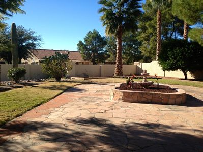 Large Back yard with full privacy fence