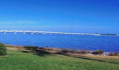 Photo for Beautiful ground floor condo with a view of the bay #541