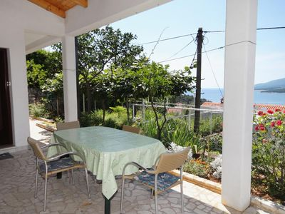Photo for Two bedroom apartment with terrace and sea view Rabac, Labin (A-2340-b)