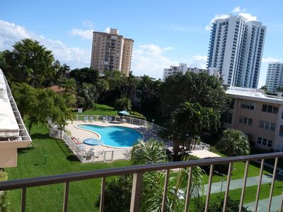 Photo for Beautiful Condo  with private gardens, just across from the ocean.
