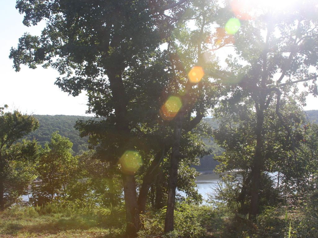 Secluded Full Log home on 12 wooded acres with view of Lake Tenkiller.