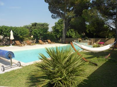 Photo for The Beaulieu L'OLIVIER Studio in villa with pool