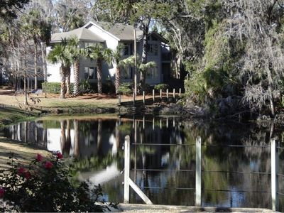 Photo for Peaceful Lagoon Views 2 Block from Beach/ Family & Golf Paradise