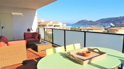 Photo for Very nice apartment with sea view ideally located at 750m from the port and shops.