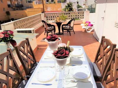 Photo for Fantastic apartment in the city center and 2 minutes from the beach.  A / C  Wifi.