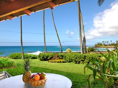 Photo for 3BD Oceanfront - Walk to Poipu Beach with AC - 25% OFF ON SELECT 2020 DATES