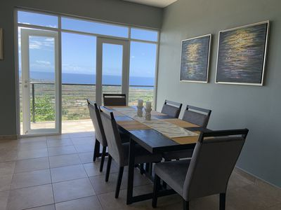 Dining area table seats 10 with spectacular view!