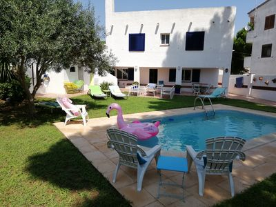 Photo for beautiful air-conditioned villa, 8 people, private pool and garden, wifi, 600mts beach
