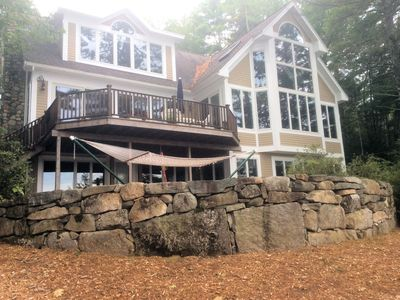 Photo for Lake Winnepesaukee Waterfront Home with Beach and Dock