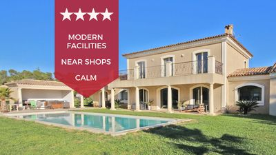 Photo for ❤️☀️ Eclectic villa with swimming pool and jacuzzi ☀️❤️ 20 min from Cannes!