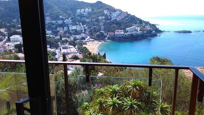 Photo for Wonderful 2 bedroom duplex view of Canyelles bay small WIFI