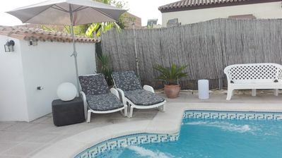 Photo for Beautiful villa 10 minutes from the beach. Family, wifi, private saltwater pool