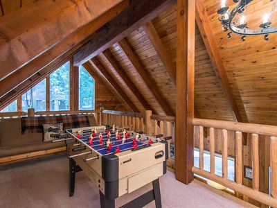 Loft - Challenge the group to a friendly foosball tournament in the loft, where a futon sleeps 2.