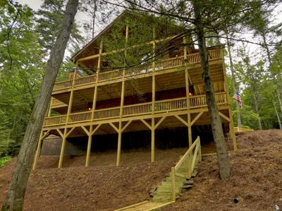 Photo for NEW-Beautiful Riverfront Cabin in Ellijay Gated Community-7th night free!