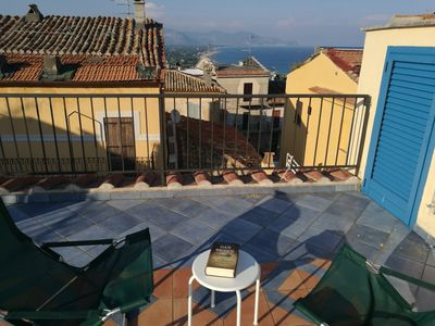Photo for cozy apartment with large panoramic terrace in the historic center