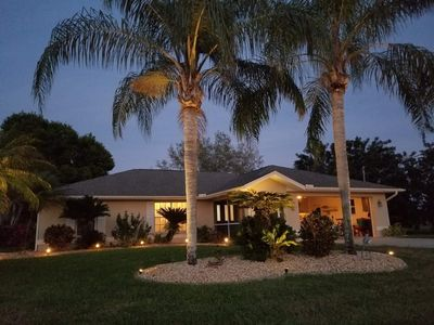 Photo for Canal front, Pet Friendly, Pool home in golf community.  15-20 min's to beaches!