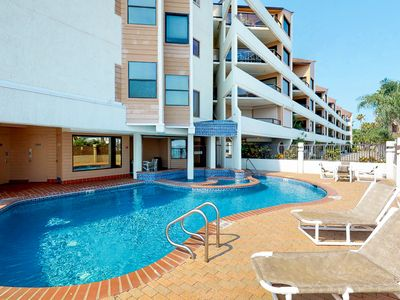 Photo for New Listing! Bay view condo w/shared pool, hot tub, and private balcony!