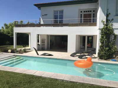 Photo for Large Villa with pool, terrace, garden between sea and mountains of the Basque Country