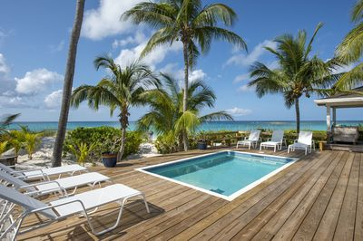 The Beach House, beachfront home with oceanview pool directly on world-famous French Leave Beach.