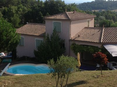 Photo for Sleeps 8. Villa with pool in a peaceful and privileged hamlet of Carcassone.