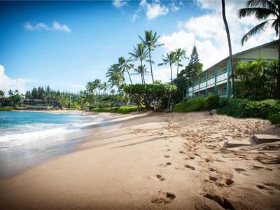 Photo for Napili Bay #104 Oceanfront! So close to the beach!