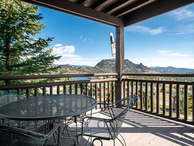 Photo for Powell Peak 104 - 1 Br condo with fireplace, Marys Lake and mountain views!