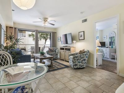 Photo for Rates discounted for Fall; Super cute condo; over-sized balcony with Gulf view.