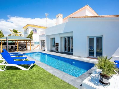 Photo for Luxury Villa with private pool  just metres from the beach in Elviria, Marbella