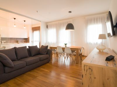 Photo for Large Apartment in the Center of Padua, 2 bedrooms, 2 bathrooms, A / C