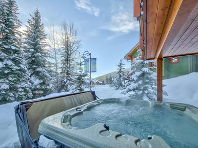 Photo for Ski-in, Ski-out Duplex, 1800 sf 3 bed + den, Sleeps 12, Hot Tub. Great Location.