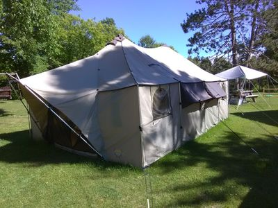 Cabela's 12x20 Alakanak outfitter tent makes a great basecamp for UP adventures