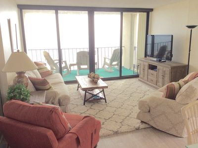 Photo for Classy/Cheerful_Oceanfront_Quiet/Family Building_On The Beach With A Pool/Tennis