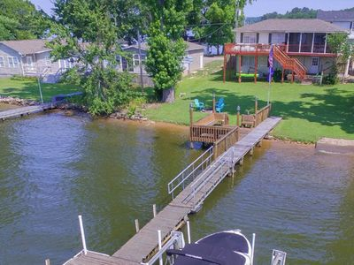 Photo for NEW LISTING! Family-friendly & dog-friendly lakefront home w/ dock and firepit
