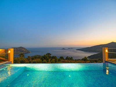 Photo for Kalkan Villa, Sleeps 4 with Pool, Air Con and WiFi