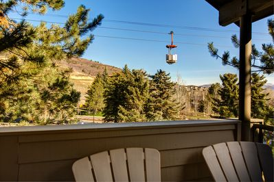 Balcony - Ski lift and slope views on your private balcony!