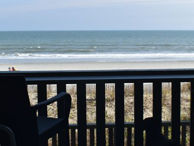 Photo for Beachfront Condominium on Garden City Beach