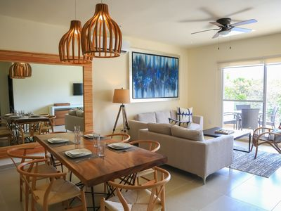 Photo for Modern apartment, car rental, pool, discount for tours