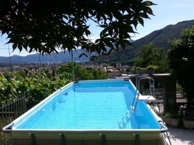 Photo for Tastefully furnished 3½-room apartment with pool and fantastic sea view