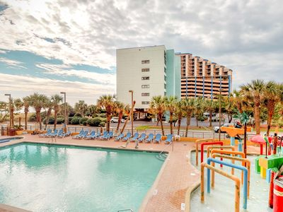 Photo for NEW LISTING! Oceanfront condo w/ shared pool, hot tub, full kitchen & free WiFi!