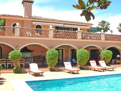 Photo for MAGNIFICENT PROPERTY , 40 METER TO THE BEACH , GUADALMINA BAJA, HEATED POOL