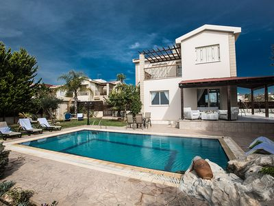 Photo for Villa Jenna, Lovely 3BDR  Ayia Thekla Villa with Private Pool and Sea Views