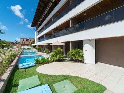 Photo for CPG03 Flat with private pool in Porto de Galinhas, near the natural pools.