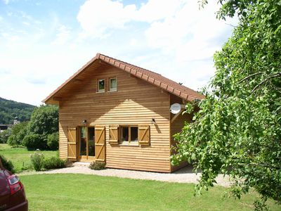 Photo for Chalet all wood, deco mountain, well equipped in the heart of the Vosges and nearby