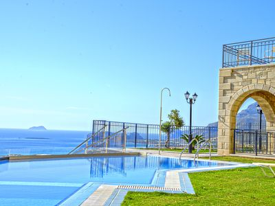 Photo for Amazing  sea view secluded quiet luxury Stone Built Villa with pool and gardens.