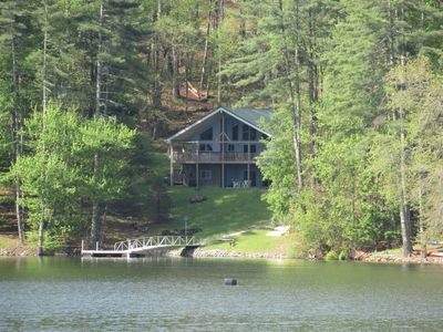 Photo for Large Lakefront Cabin with Dock