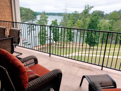 Photo for StillWaters Resort at Lake Martin - Lakefront Top Floor Condo with Boat Slip