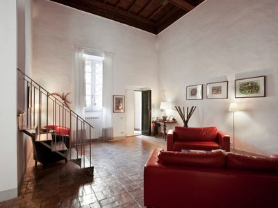Photo for A large apartment at 1 minute walk from Navona Square, in the Heart of Rome