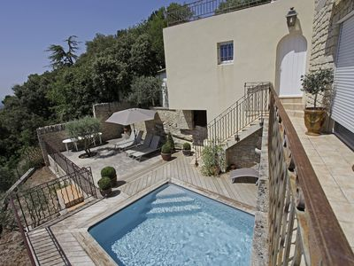 Photo for La Roque:  House in Provence, Pool, Stunning view