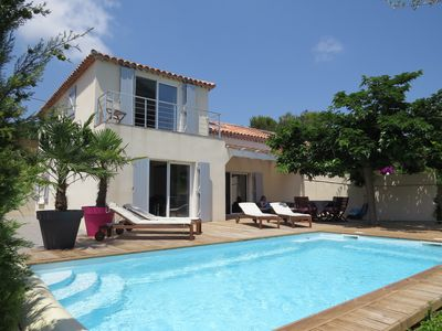 Photo for New house with pool ideally located near the beaches and shops