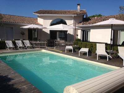 Photo for VILLA WITH SWIMMING POOL IN MONTALIVET